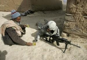 Afghan Offering Soldiers Tea