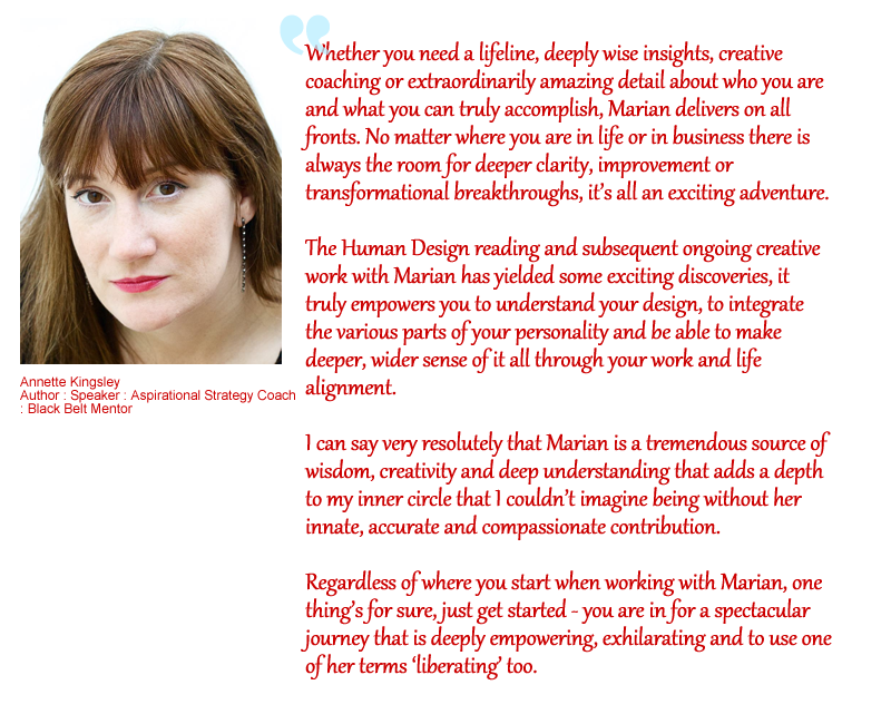 testimonial for Marian Mills by Annette Kingsley
