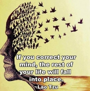 if you correct your mind the rest of your life will fall into place ~ Lao Tzu