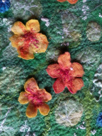 autumn nasturtium and columbine felt blythwhimsies