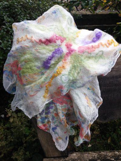 nuno felt silk chiffon scarf blythwhimsies