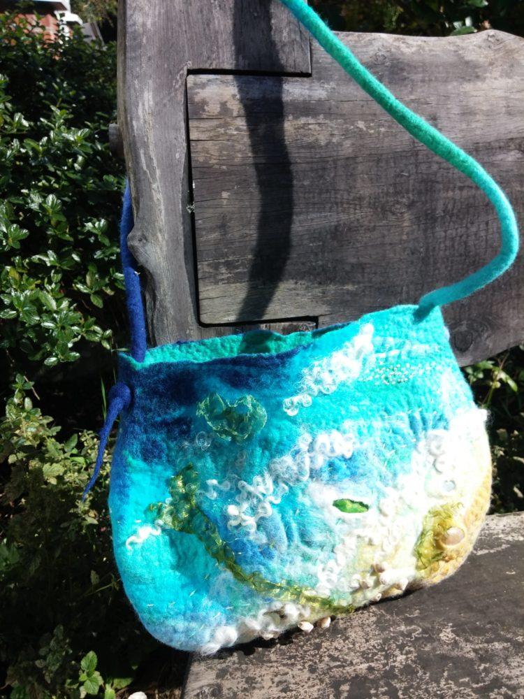 sea shore felt bag