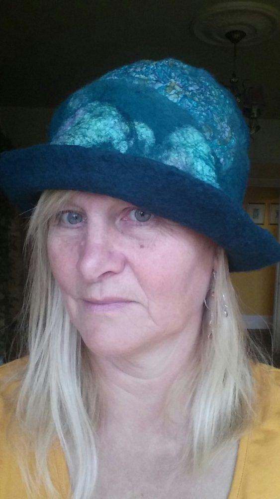 Felt silk merino handmade hat blythwhimsies