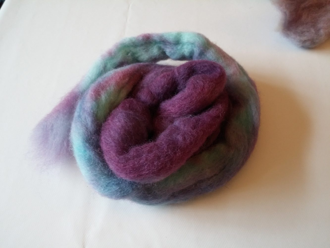 wilton violet food colour wool dyeing batch 4