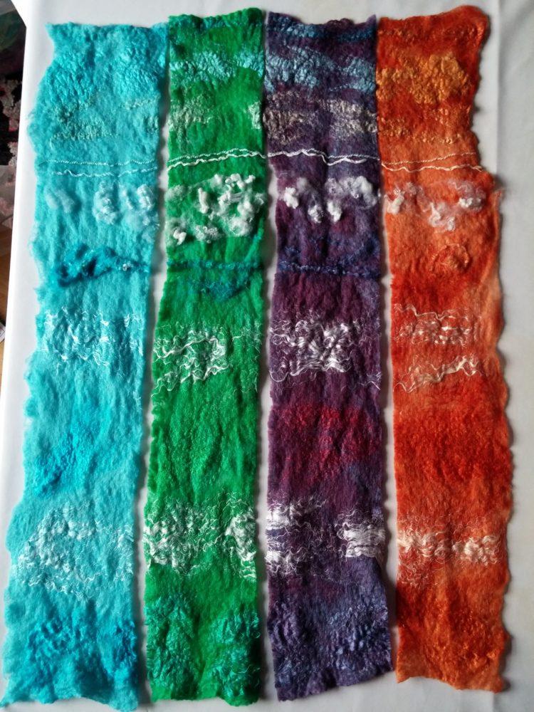 felt dye fibre sample