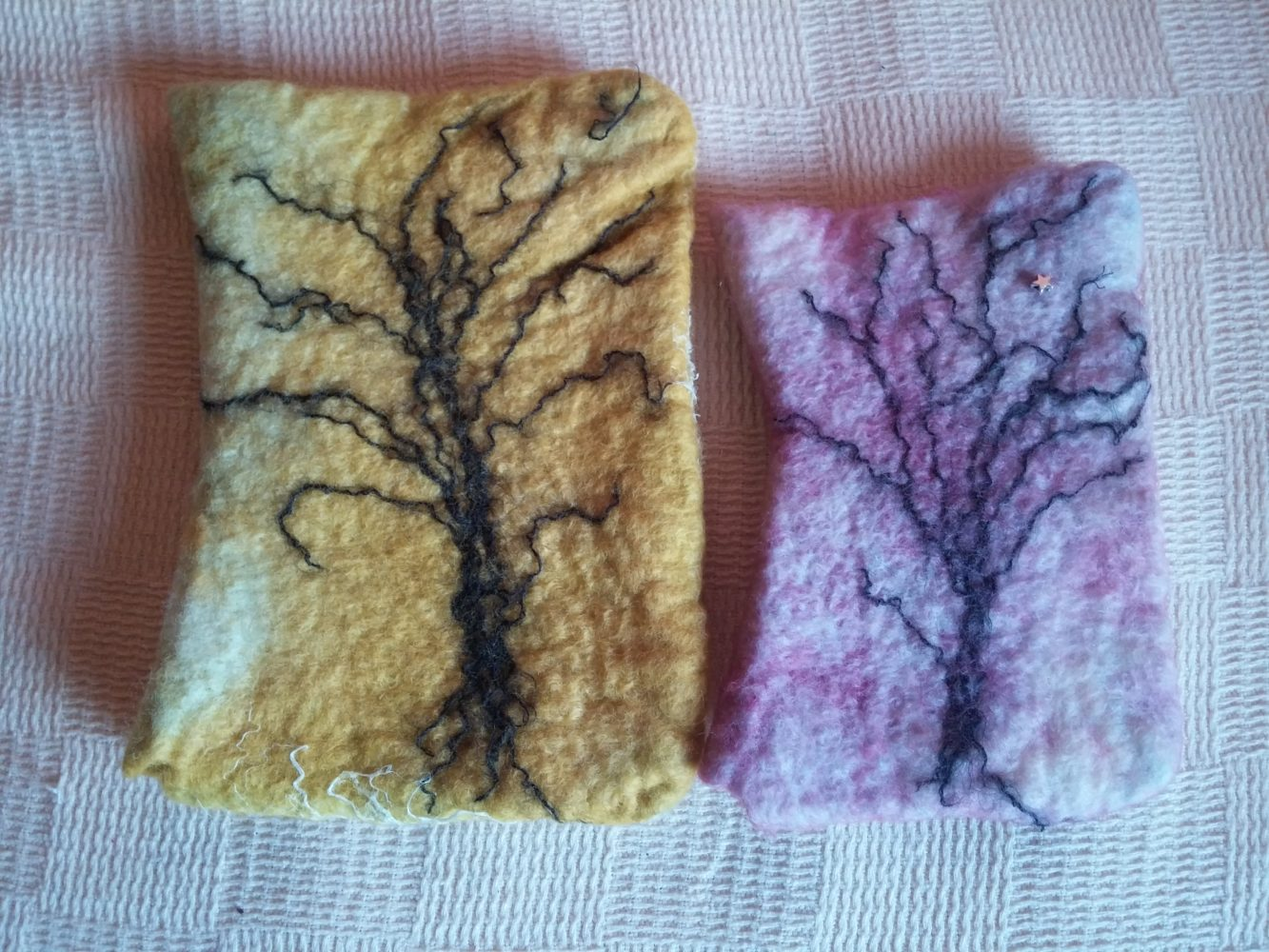 kindle cover and mobile phone cover hand felted hand dyed 2