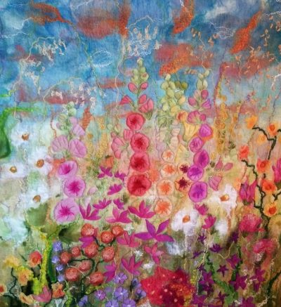english-cottage-garden-textile-art-wool-felt-picture-painting-wall-hanging-marian-may